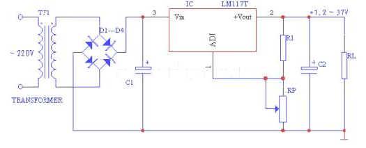 元器件 电源ic 其他电源ic  cw117为三端可调正输出集成稳压器,输出